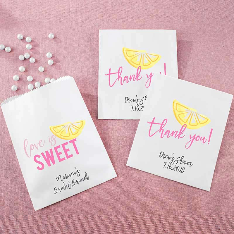 Personalized White Goodie Bag - Cheery & Chic (Set of 12)