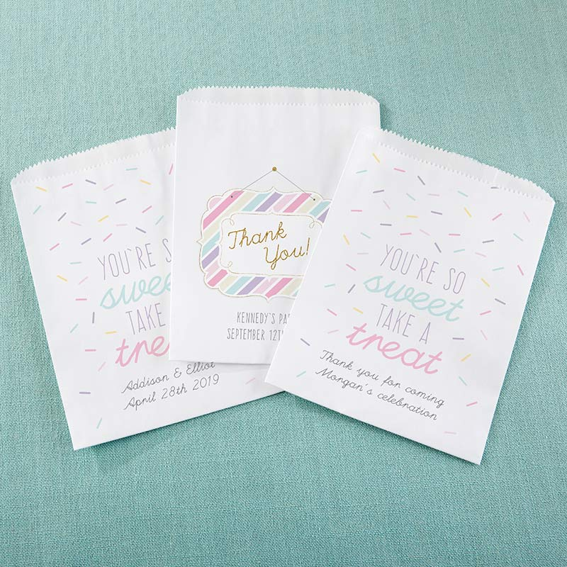 Personalized White Goodie Bag - So Sweet (Set of 12)