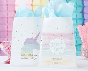 Personalized White Goodie Bag - Enchanted Party (Set of 12)