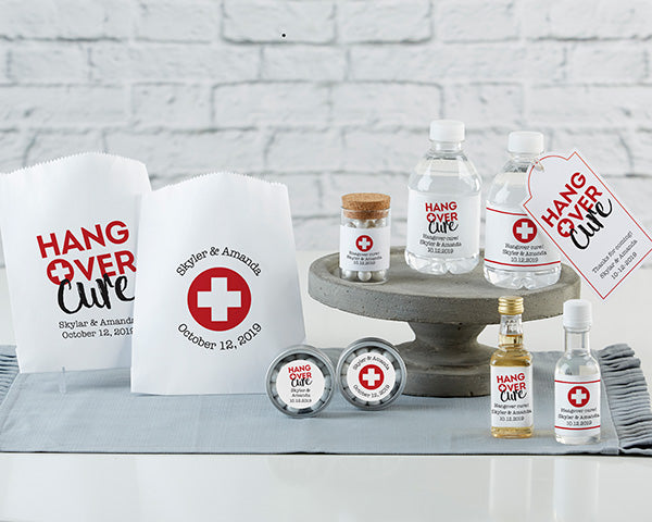 Personalized White Goodie Bag - Hangover (Set of 12)