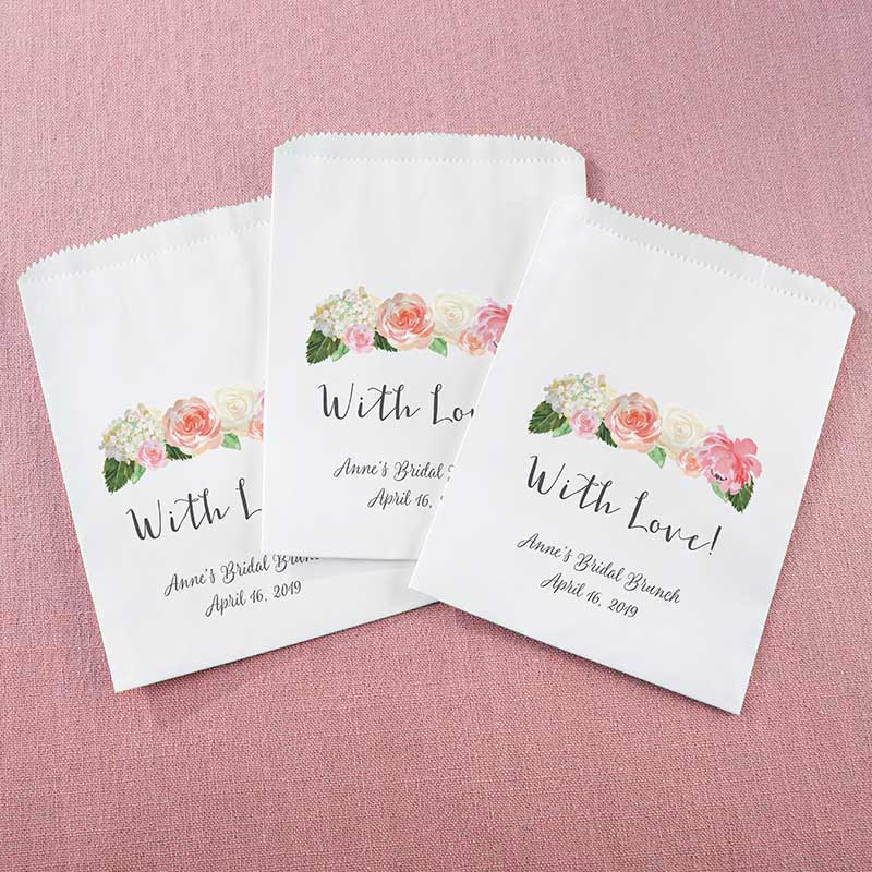 Personalized White Goodie Bag - Brunch (Set of 12)