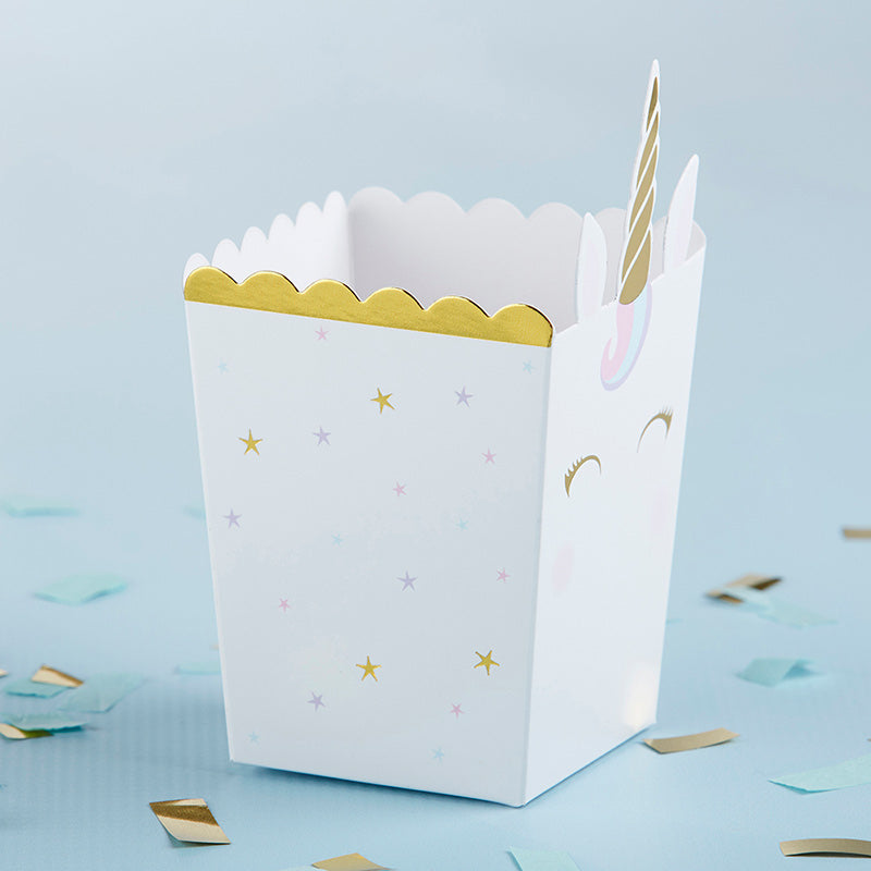 Unicorn Popcorn Favor Box (Set of 12)
