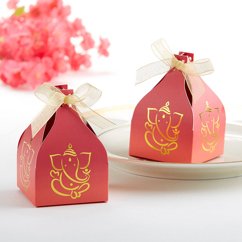 Indian Jewel Ganesh Favor Box (Set of 12)