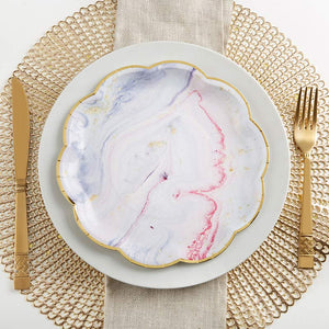 Marbleized 9 in. Paper Plates (Set of 8)