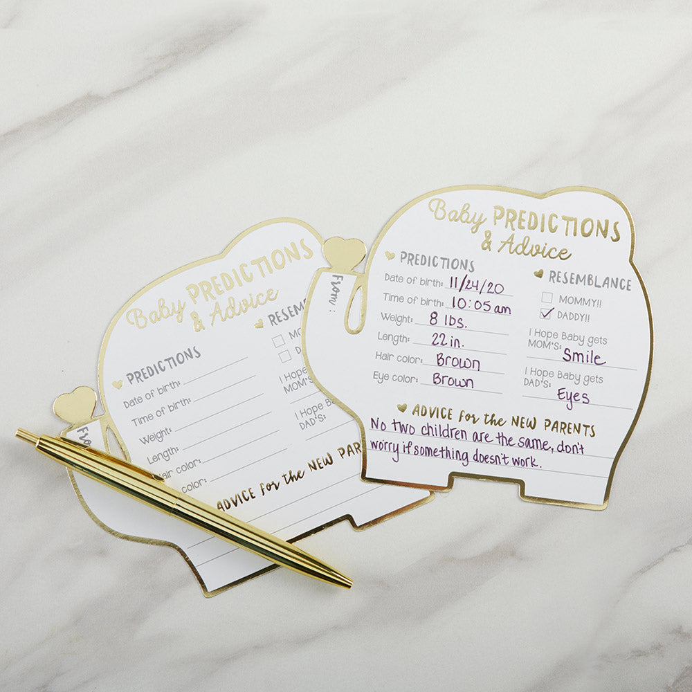 Baby Shower Prediction Advice Card - Elephant (Set of 50)