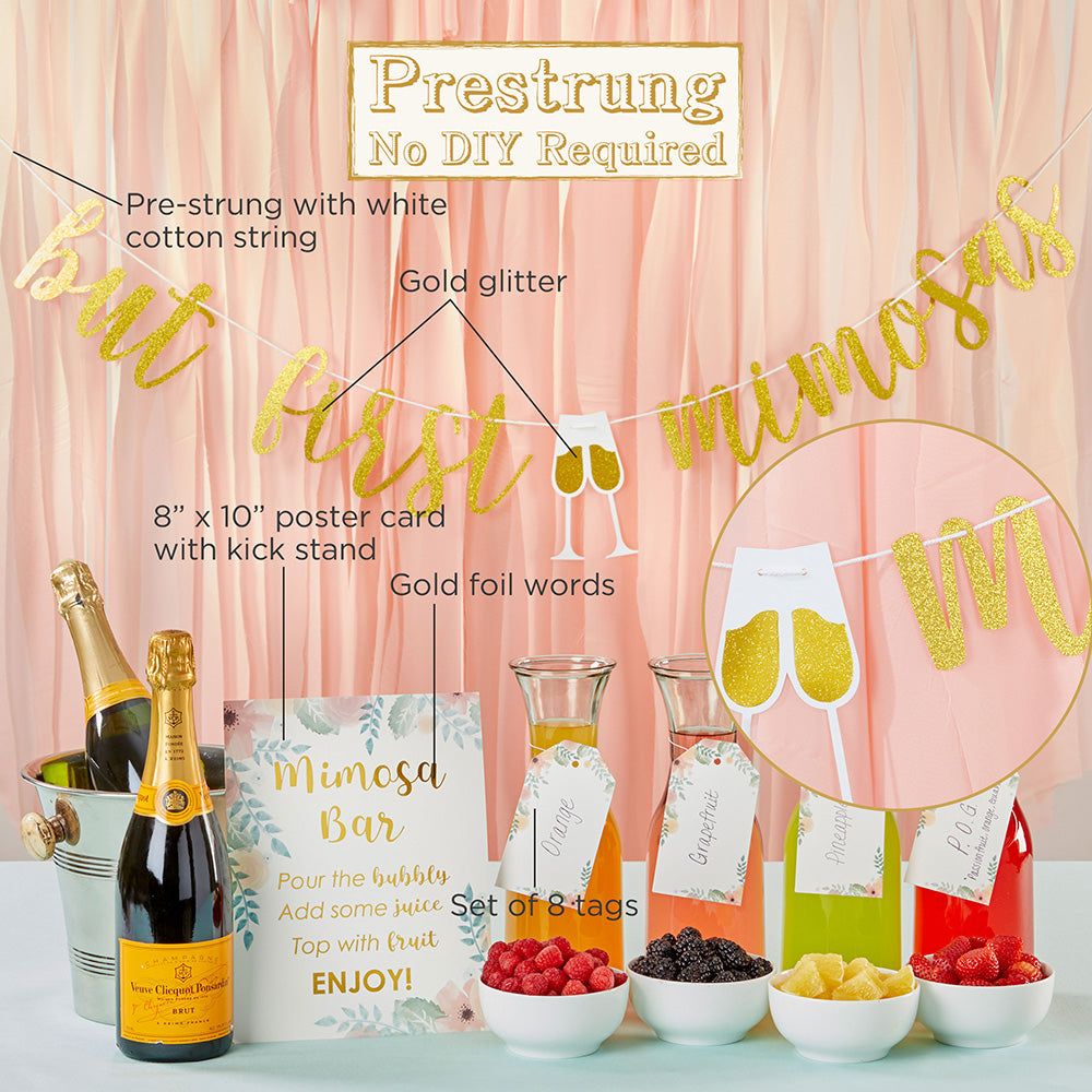 Mimosa Bar 10-Piece Kit - Gold Glitter