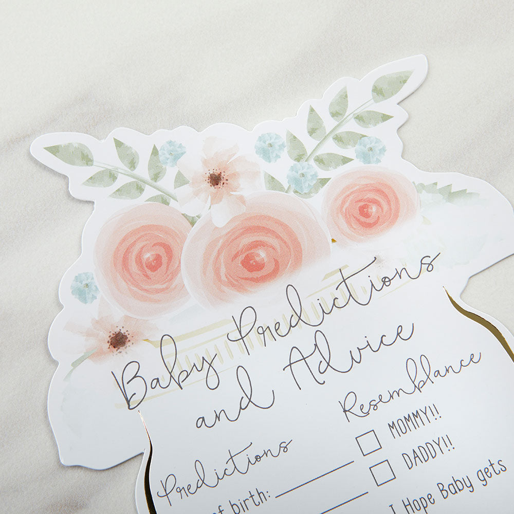 Load image into Gallery viewer, Floral Baby Shower Advice Card - Mason Jar (Set of 50)