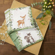 Load image into Gallery viewer, Woodland Baby 2 Ply Paper Napkins (Set of 30)
