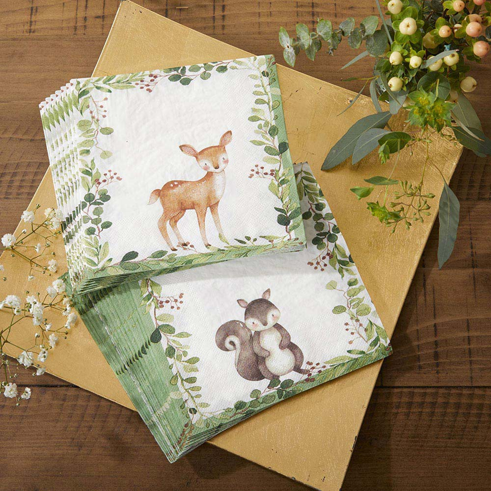 Woodland Baby 2 Ply Paper Napkins (Set of 30)