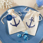 Voyages Anchor Muslin Favor Bag (Set of 12)