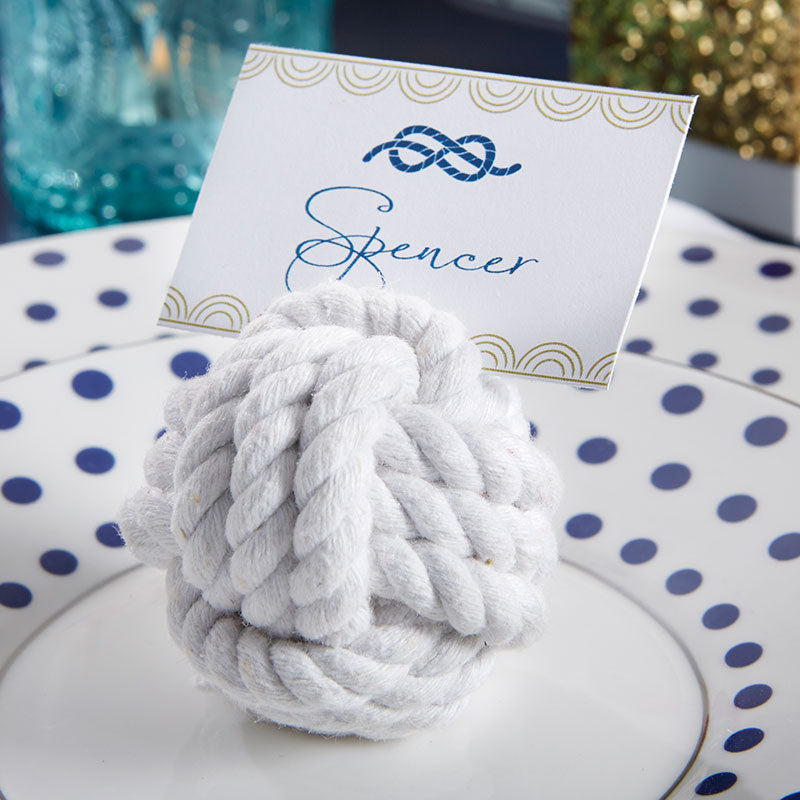 Nautical Cotton Rope Place Card Holder (Set of 6)