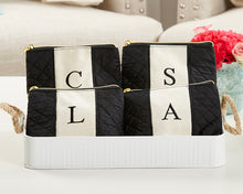 Load image into Gallery viewer, Classic Black and White Monogram Makeup Bag