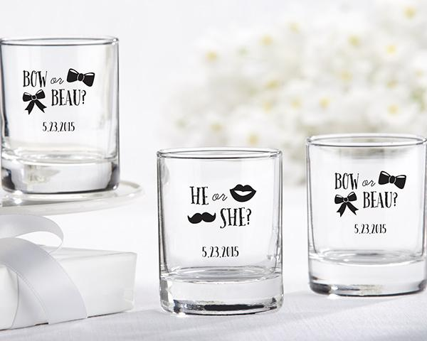 Personalized 2 oz. Shot Glass/Votive Holder - Gender Reveal