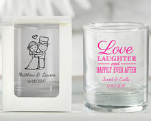 Load image into Gallery viewer, Personalized 2 oz. Shot Glass/Votive Holder - Wedding
