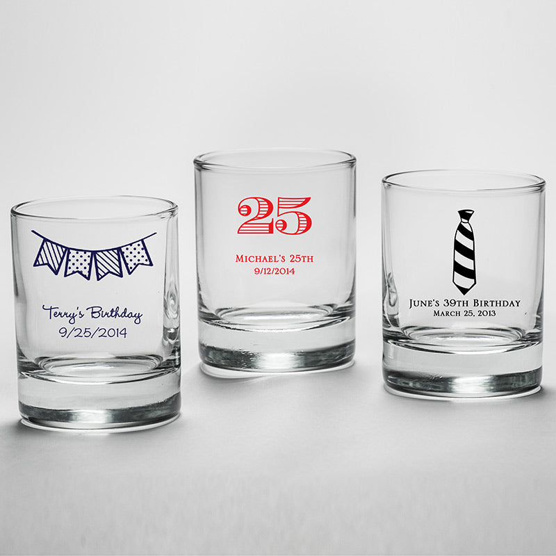 Load image into Gallery viewer, Personalized 2 oz. Shot Glass/Votive Holder - Birthday