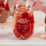 Personalized 9 oz. Stemless Wine Glass - Kate's Rustic Baby Shower Collection