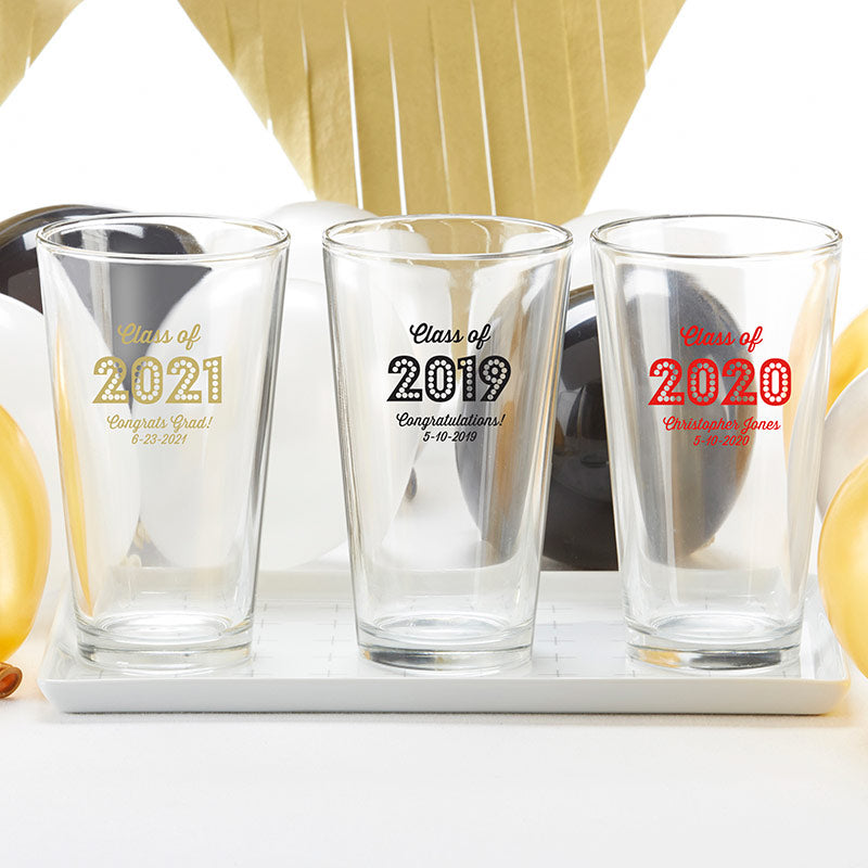 Personalized 16 oz. Pint Glass - Class of 2019