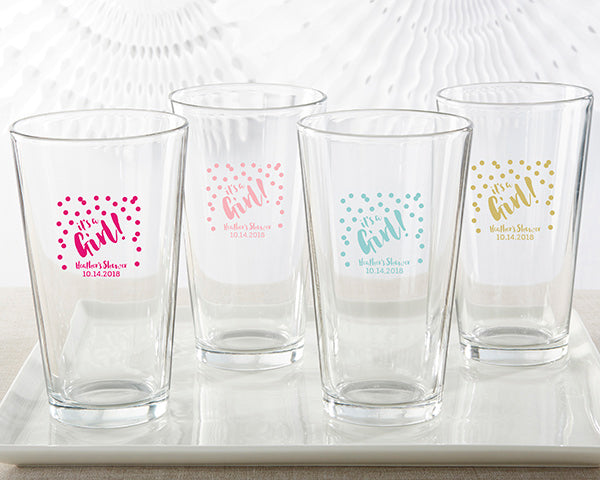 Personalized 16 oz. Pint Glass - It's a Girl!