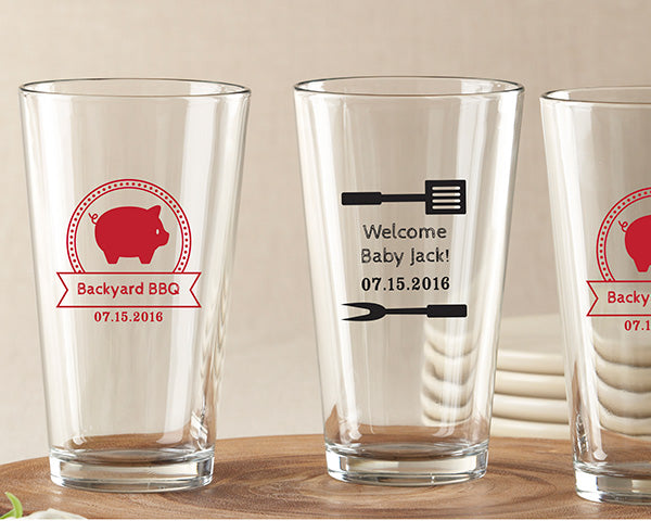 Personalized 16 oz. Pint Glass - BBQ