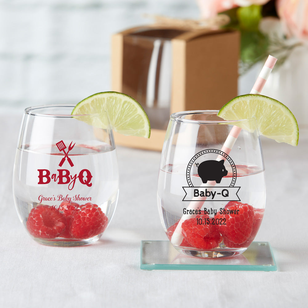 Personalized 15 oz. Stemless Wine Glass - Baby