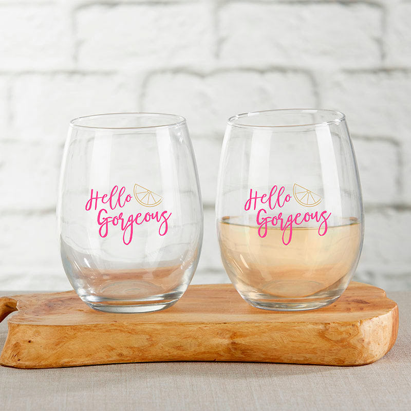 Cheery & Chic 15 oz. Stemless Wine Glass (Set of 4)