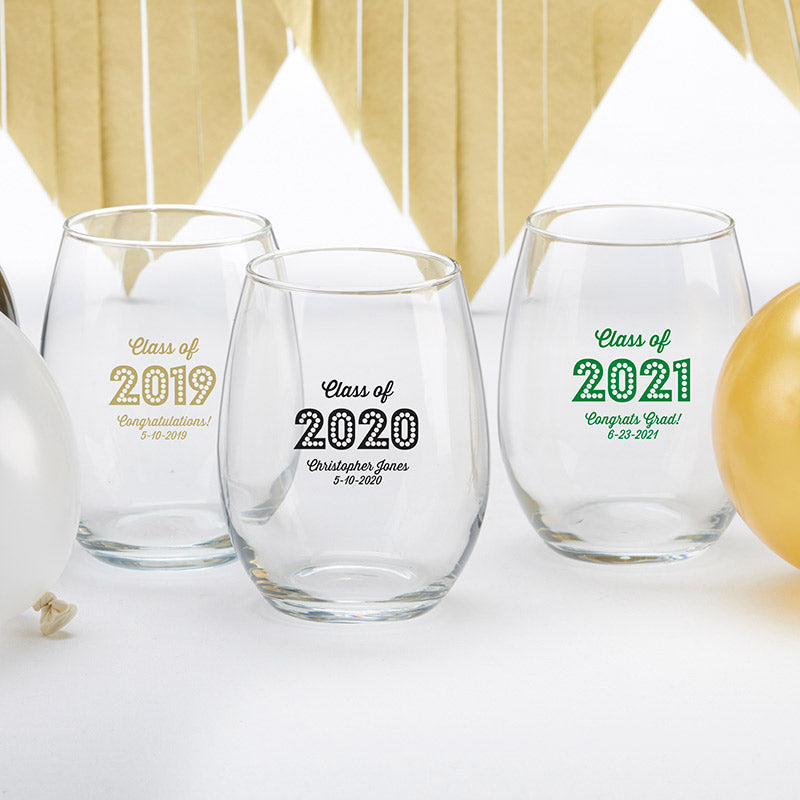 Personalized 15 oz. Wine Glass - Class of 2019