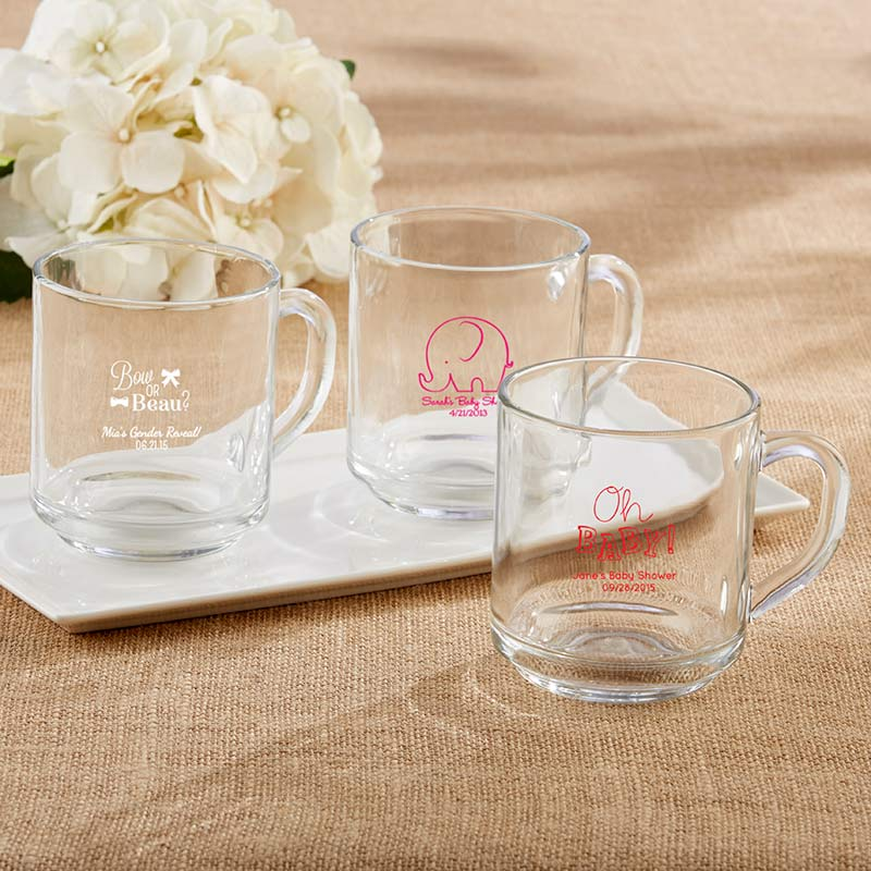 Personalized 10 oz. Glass Coffee Mug - Baby