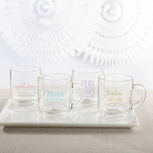 Personalized 10 oz. Glass Coffee Mug - Custom Design