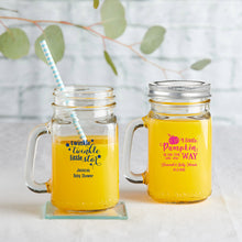 Load image into Gallery viewer, Personalized 16 oz. Mason Jar Mug - Baby Shower