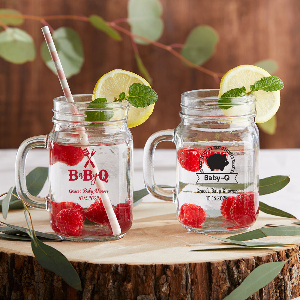Personalized 16 oz. Mason Jar Mug - Baby