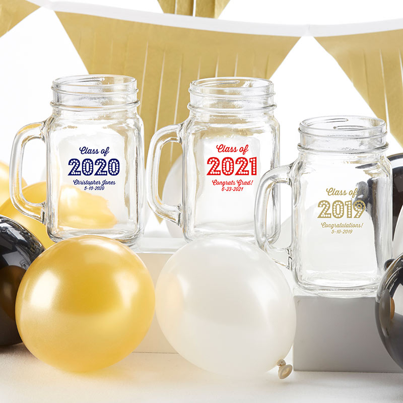 Personalized 16 oz. Mason Jar Mug - Class of 2019
