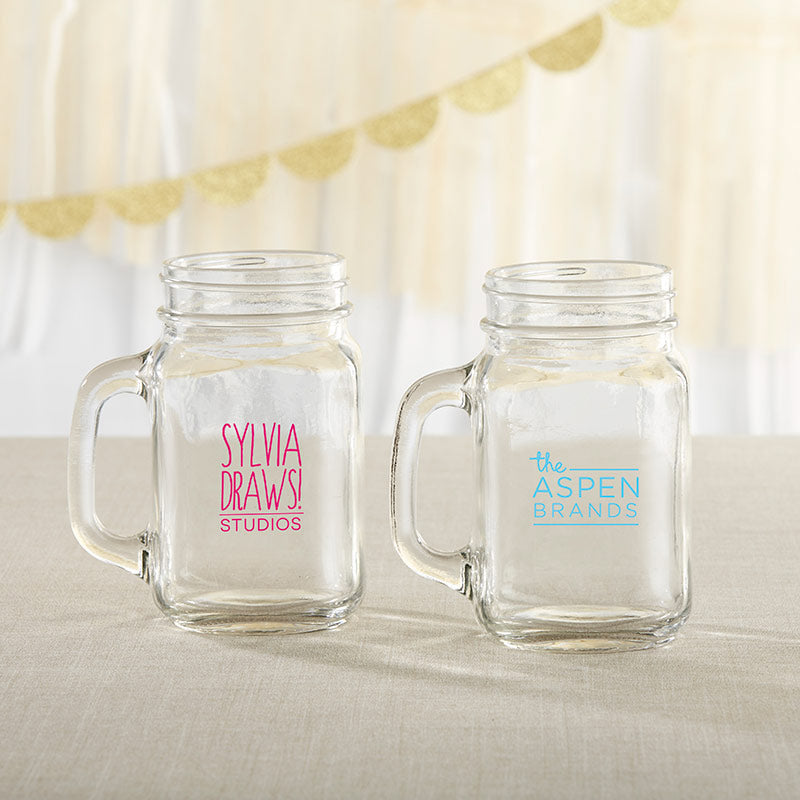Personalized 16 oz. Mason Jar Mug - Custom Design