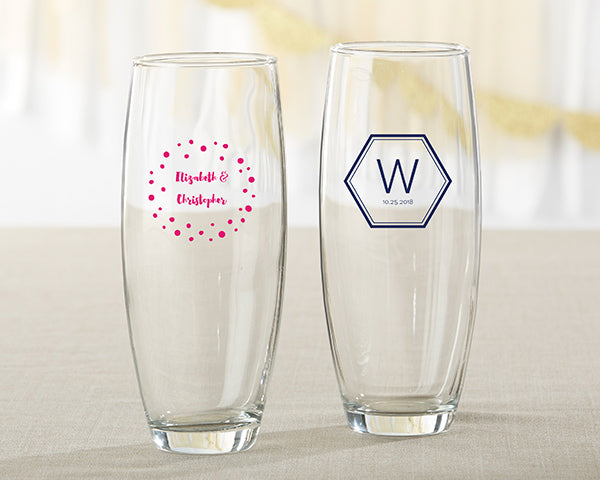 Personalized 9 oz. Stemless Champagne Glass - Modern Classic