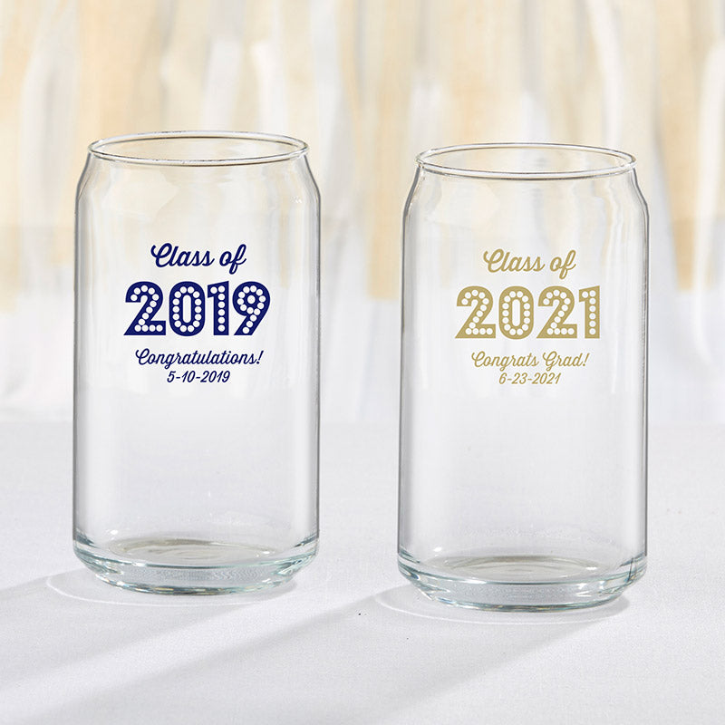 Personalized 16 oz. Can Glass - Class of 2019