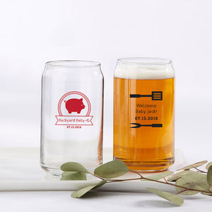 Personalized 16 oz. Can Glass - BBQ