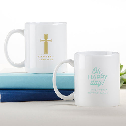 Personalized 11 oz. White Coffee Mug - Religious