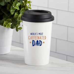 World's Most Caffeinated Dad 15 oz. Ceramic Travel Mug