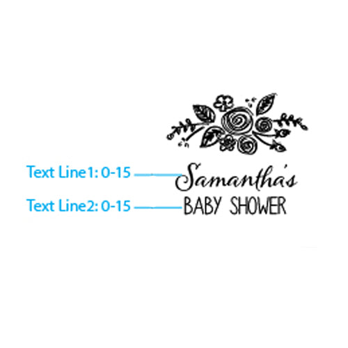 Personalized Glass Coaster - Rustic Baby Shower (Set of 12)