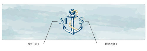 Personalized Water Bottle Labels - Kate's Nautical Wedding Collection