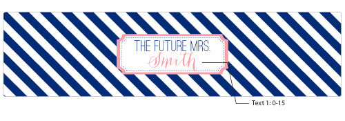Load image into Gallery viewer, Personalized Water Bottle Labels - Kate's Nautical Bridal Collection