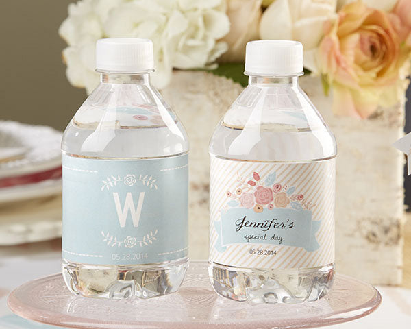Personalized Water Bottle Labels - Kate's Rustic Bridal Collection