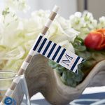 Personalized Party Straw Flags - Kate's Nautical Wedding Collection