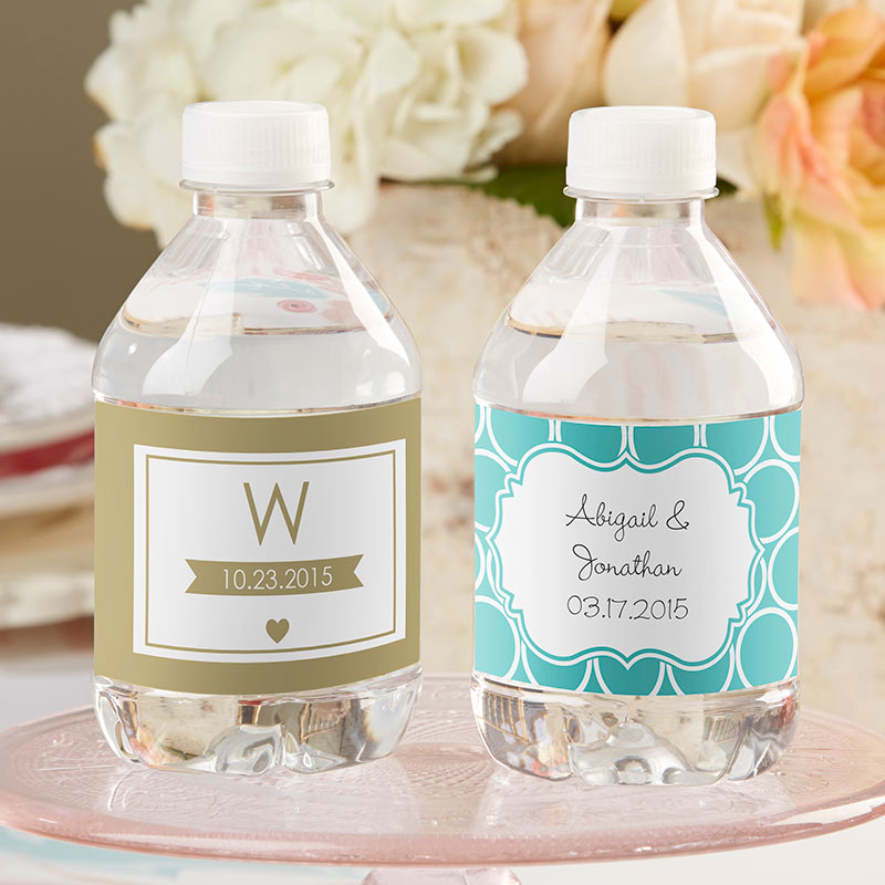 Personalized Wedding Water Bottle Labels