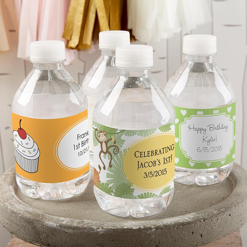 Personalized Birthday Water Bottle Labels