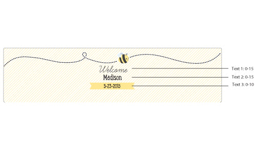 "Kate's ""Sweet as can Bee"" Personalized Water Bottle Labels"