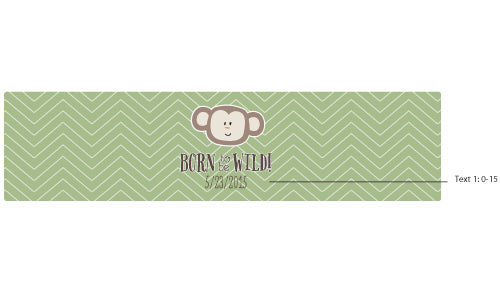 Personalized Water Bottle Labels - Born to Be Wild