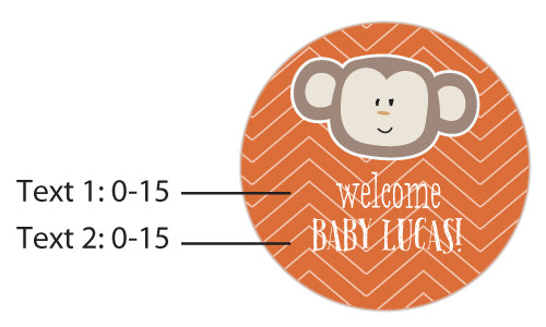 Personalized Silver Round Candy Tin - Born To Be Wild Baby Shower (Set of 12)