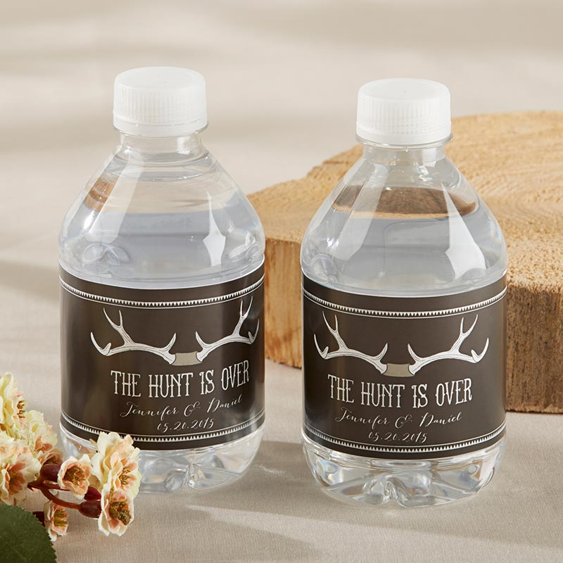 Personalized Water Bottle Labels  - The Hunt Is Over