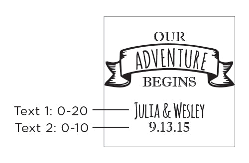 Personalized Glass Coaster - Travel & Adventure (Set of 12)