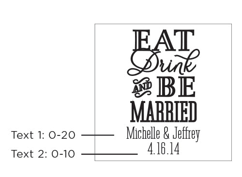 Personalized 9 oz. Stemless Wine Glass - Eat, Drink & Be Married